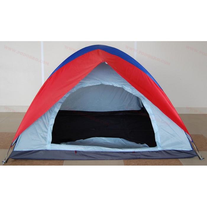 Палатка с покривало за четирима човека - двуслойна